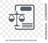 balance sheet icon. balance... | Shutterstock .eps vector #1228600009