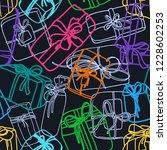 vector seamless pattern. gift... | Shutterstock .eps vector #1228602253