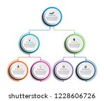 infographic design organization ... | Shutterstock .eps vector #1228606726