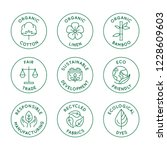 vector set of linear icons and... | Shutterstock .eps vector #1228609603