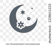 crescent moon icon. crescent... | Shutterstock .eps vector #1228611223