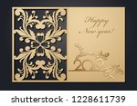 template christmas cards for... | Shutterstock .eps vector #1228611739