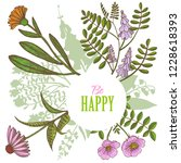 card with floral elements....   Shutterstock .eps vector #1228618393