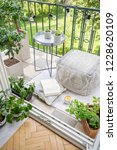 top view of balcony with lights ... | Shutterstock . vector #1228620109