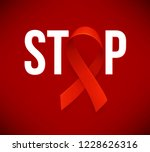 banner with realistic red... | Shutterstock .eps vector #1228626316