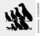 black icon set dogs | Shutterstock .eps vector #1228628800