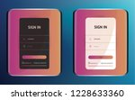 login user interface. sign in...
