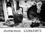 beautiful wine still life. on... | Shutterstock . vector #1228633873