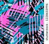 urban seamless funky geometric... | Shutterstock . vector #1228633996