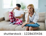 unhappy married couple on verge ... | Shutterstock . vector #1228635436