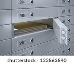 3d Render Of Safety Deposit...