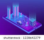 3d isometric concept with... | Shutterstock . vector #1228642279