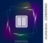 electrical switch vector neon... | Shutterstock .eps vector #1228650463