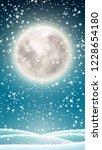 winter background for mobile... | Shutterstock .eps vector #1228654180