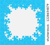 puzzle grey background  banner  ... | Shutterstock .eps vector #1228654879