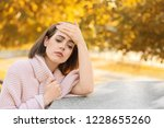 lonely depressed woman in...   Shutterstock . vector #1228655260