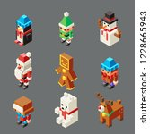 isometric lowpoly christmas... | Shutterstock .eps vector #1228665943