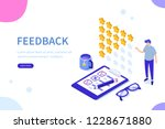 feedback or rating concept... | Shutterstock .eps vector #1228671880