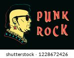 punk rock design print. punk is ... | Shutterstock .eps vector #1228672426