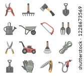 garden tools icon set | Shutterstock .eps vector #1228673569