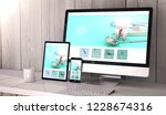digital generated devices on... | Shutterstock . vector #1228674316