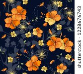 blossom floral seamless pattern.... | Shutterstock .eps vector #1228676743