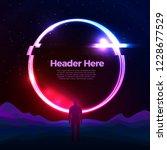 vector banner  poster design... | Shutterstock .eps vector #1228677529