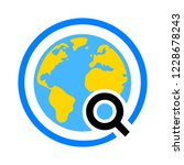 global search sign icon. world... | Shutterstock .eps vector #1228678243