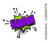 hurrah lettering. comics book... | Shutterstock . vector #1228683736