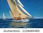 sailing yacht race. yachting.... | Shutterstock . vector #1228684483