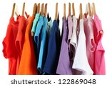 choice of clothes of different... | Shutterstock . vector #122869048