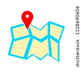 map pointer  map pin  map icon  ... | Shutterstock .eps vector #1228690606