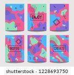 vector abstract fun a4 brochure ... | Shutterstock .eps vector #1228693750
