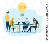 vector illustration  manager... | Shutterstock .eps vector #1228698976