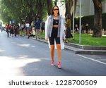 milan  italy  23 september 2018 ... | Shutterstock . vector #1228700509