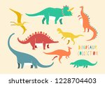 colorful flat vector isolated... | Shutterstock .eps vector #1228704403