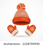 realistic 3d detailed winter... | Shutterstock .eps vector #1228704940