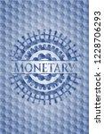 monetary blue emblem with... | Shutterstock .eps vector #1228706293