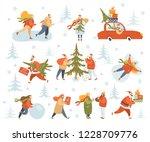 vector winter season set.... | Shutterstock .eps vector #1228709776