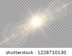 vector transparent sunlight... | Shutterstock .eps vector #1228710130
