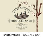 vector label for red and white... | Shutterstock .eps vector #1228717120