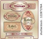vintage label | Shutterstock .eps vector #122871964