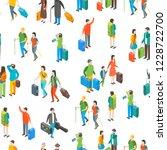 isometric travel people... | Shutterstock .eps vector #1228722700