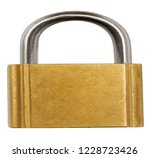 padlock copper bronze isolated... | Shutterstock . vector #1228723426