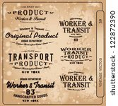 transport vector vintage label... | Shutterstock .eps vector #122872390