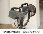 construction floodlights to... | Shutterstock . vector #1228725970
