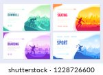 colorful covers with various... | Shutterstock .eps vector #1228726600