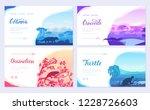 brochures with varieties of... | Shutterstock .eps vector #1228726603