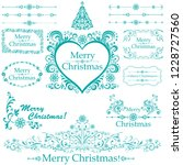 christmas decoration set   lots ... | Shutterstock .eps vector #1228727560