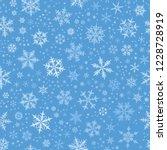 White Gradient Spot Snow Flake...